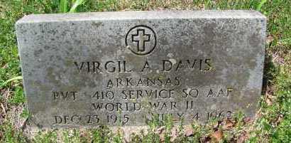 DAVIS (VETERAN WWII), VIRGIL A - Madison County, Arkansas | VIRGIL A DAVIS (VETERAN WWII) - Arkansas Gravestone Photos