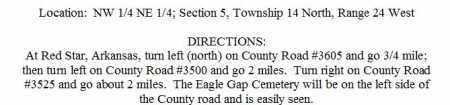 DIRECTIONS TO, EAGLE GAP CEMETERY - Madison County, Arkansas | EAGLE GAP CEMETERY DIRECTIONS TO - Arkansas Gravestone Photos