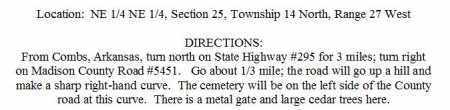 DIRECTIONS TO, GREASY CREEK CEMETERY - Madison County, Arkansas   GREASY CREEK CEMETERY DIRECTIONS TO - Arkansas Gravestone Photos