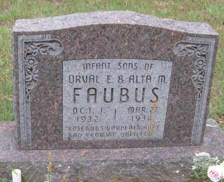 FAUBUS, INFANT SONS - Madison County, Arkansas | INFANT SONS FAUBUS - Arkansas Gravestone Photos