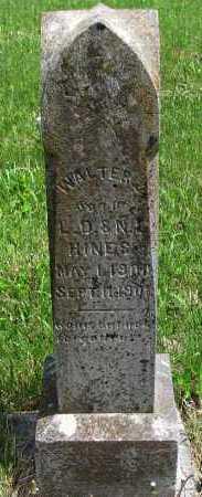 HINES, WALTER - Madison County, Arkansas | WALTER HINES - Arkansas Gravestone Photos