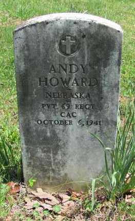 HOWARD (VETERAN), ANDY - Madison County, Arkansas   ANDY HOWARD (VETERAN) - Arkansas Gravestone Photos