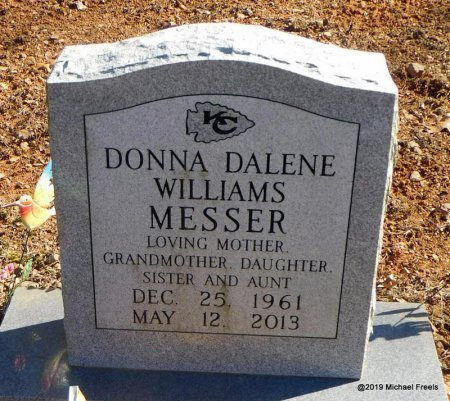 MESSER, DONNA DALENE - Madison County, Arkansas | DONNA DALENE MESSER - Arkansas Gravestone Photos