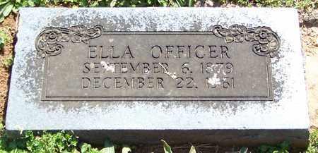 OFFICER, ELLA - Madison County, Arkansas   ELLA OFFICER - Arkansas Gravestone Photos