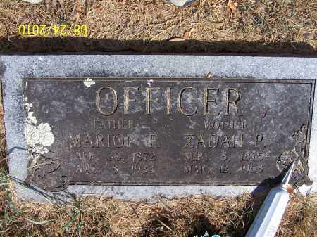 OFFICER, ZADAH - Madison County, Arkansas | ZADAH OFFICER - Arkansas Gravestone Photos