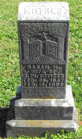 OFFICER, SARAH H - Madison County, Arkansas   SARAH H OFFICER - Arkansas Gravestone Photos