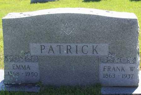 PATRICK, FRANK W. - Madison County, Arkansas | FRANK W. PATRICK - Arkansas Gravestone Photos