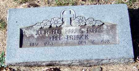 PATRICK, JULIA ANN HARRIS EVANS - Madison County, Arkansas | JULIA ANN HARRIS EVANS PATRICK - Arkansas Gravestone Photos