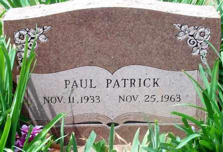 PATRICK, PAUL - Madison County, Arkansas   PAUL PATRICK - Arkansas Gravestone Photos