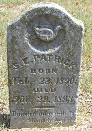 PATRICK, S. E. - Madison County, Arkansas | S. E. PATRICK - Arkansas Gravestone Photos