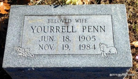 PENN, YOURRELL - Madison County, Arkansas   YOURRELL PENN - Arkansas Gravestone Photos