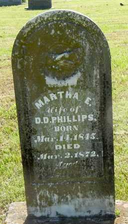 PHILLIPS, MARTHA E - Madison County, Arkansas | MARTHA E PHILLIPS - Arkansas Gravestone Photos