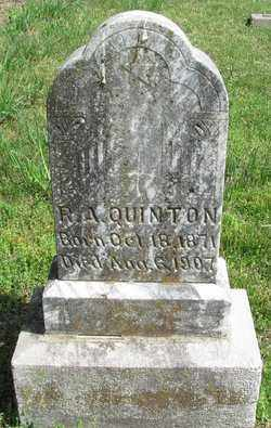QUINTON, R.A. - Madison County, Arkansas   R.A. QUINTON - Arkansas Gravestone Photos