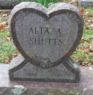 SHUTTS, ALTA A. - Madison County, Arkansas | ALTA A. SHUTTS - Arkansas Gravestone Photos