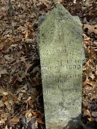 SIKES, WILLIAM B. - Madison County, Arkansas   WILLIAM B. SIKES - Arkansas Gravestone Photos