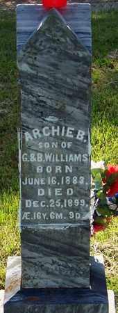 WILLIAMS, ARCHIE BISHOP - Madison County, Arkansas | ARCHIE BISHOP WILLIAMS - Arkansas Gravestone Photos