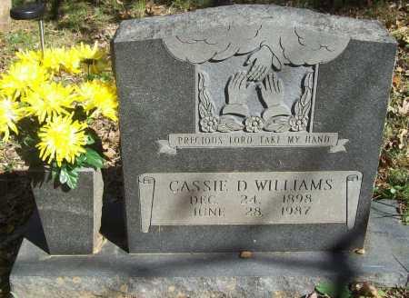 WILLIAMS, CASSIE D. - Madison County, Arkansas | CASSIE D. WILLIAMS - Arkansas Gravestone Photos