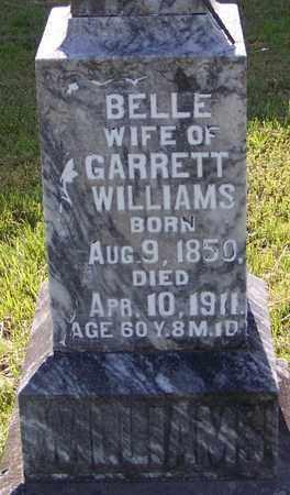 WILLIAMS, BELLE (CLOSEUP) - Madison County, Arkansas   BELLE (CLOSEUP) WILLIAMS - Arkansas Gravestone Photos