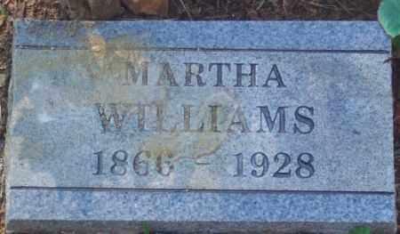 WILLIAMS, MARTHA - Madison County, Arkansas   MARTHA WILLIAMS - Arkansas Gravestone Photos