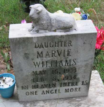 WILLIAMS, MARVIE - Madison County, Arkansas   MARVIE WILLIAMS - Arkansas Gravestone Photos
