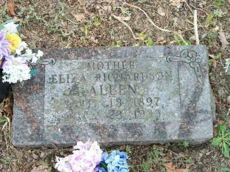RICHARDSON ALLEN, ELIZA - Marion County, Arkansas   ELIZA RICHARDSON ALLEN - Arkansas Gravestone Photos