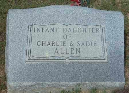 ALLEN, INFANT DAUGHTER - Marion County, Arkansas | INFANT DAUGHTER ALLEN - Arkansas Gravestone Photos