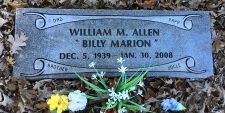 "ALLEN, WILLIAM M. ""BILLY MARION"" - Marion County, Arkansas 