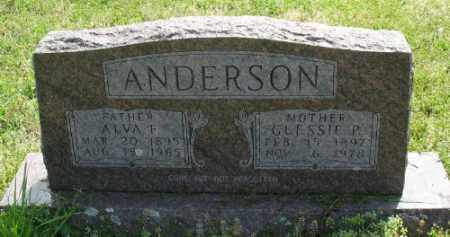 ANDERSON, GLESSIE P. - Marion County, Arkansas | GLESSIE P. ANDERSON - Arkansas Gravestone Photos