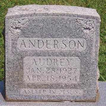 ANDERSON, AUDREY - Marion County, Arkansas   AUDREY ANDERSON - Arkansas Gravestone Photos