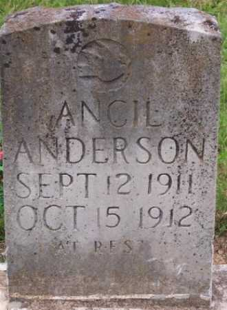 ANDERSON, ANCIL - Marion County, Arkansas | ANCIL ANDERSON - Arkansas Gravestone Photos