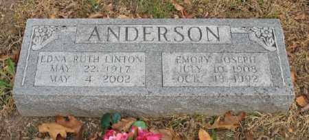 ANDERSON, EMORY JOSEPH - Marion County, Arkansas | EMORY JOSEPH ANDERSON - Arkansas Gravestone Photos