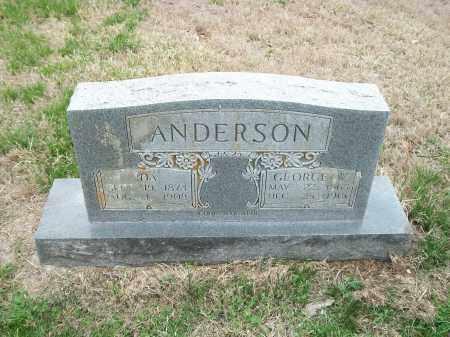 ANDERSON, GEORGE W. - Marion County, Arkansas | GEORGE W. ANDERSON - Arkansas Gravestone Photos