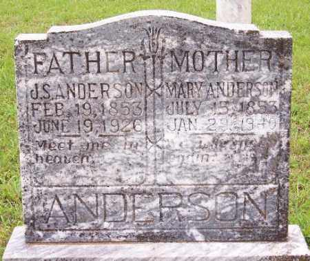 ANDERSON, J. S. - Marion County, Arkansas | J. S. ANDERSON - Arkansas Gravestone Photos