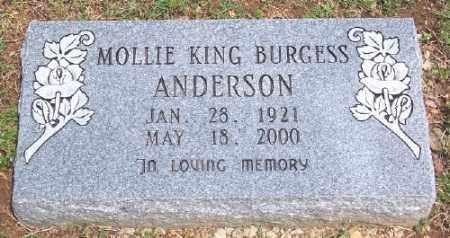 ANDERSON, MOLLIE - Marion County, Arkansas | MOLLIE ANDERSON - Arkansas Gravestone Photos