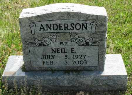 ANDERSON, NEIL E. - Marion County, Arkansas | NEIL E. ANDERSON - Arkansas Gravestone Photos