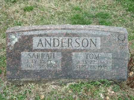 ANDERSON, SARRAH - Marion County, Arkansas   SARRAH ANDERSON - Arkansas Gravestone Photos