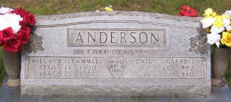 ANDERSON, WILLA M. - Marion County, Arkansas | WILLA M. ANDERSON - Arkansas Gravestone Photos