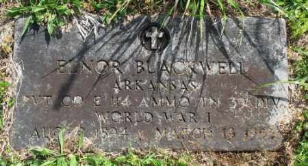 BLACKWELL (VETERAN WWI), ELNOR - Marion County, Arkansas | ELNOR BLACKWELL (VETERAN WWI) - Arkansas Gravestone Photos