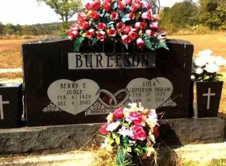 BURLESON, BERRY E. - Marion County, Arkansas | BERRY E. BURLESON - Arkansas Gravestone Photos