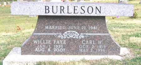BURLESON, CARL W - Marion County, Arkansas | CARL W BURLESON - Arkansas Gravestone Photos
