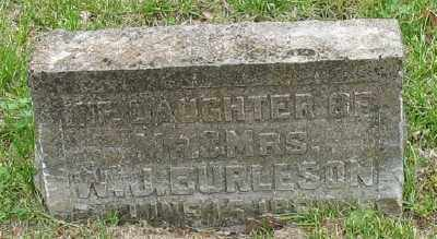 BURLESON, INFANT DAUGHTER - Marion County, Arkansas | INFANT DAUGHTER BURLESON - Arkansas Gravestone Photos