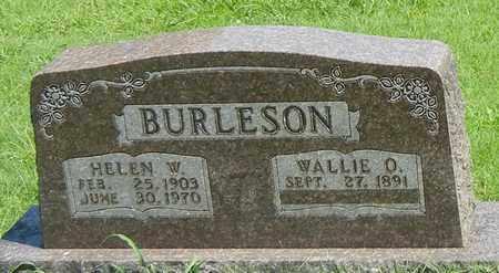 BURLESON, WALLIE O - Marion County, Arkansas | WALLIE O BURLESON - Arkansas Gravestone Photos