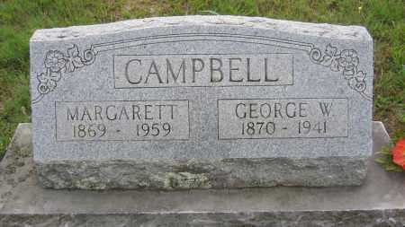 CAMPBELL, GEORGE WASHINGTON - Marion County, Arkansas   GEORGE WASHINGTON CAMPBELL - Arkansas Gravestone Photos