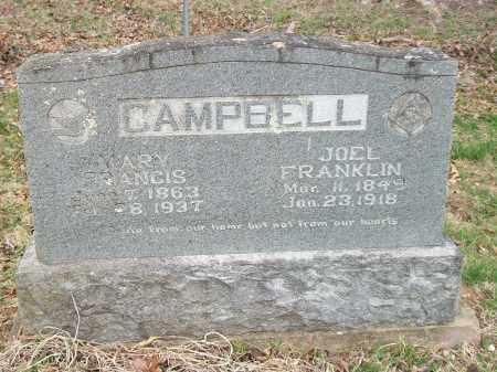 CAMPBELL, JOEL FRANKLIN - Marion County, Arkansas | JOEL FRANKLIN CAMPBELL - Arkansas Gravestone Photos