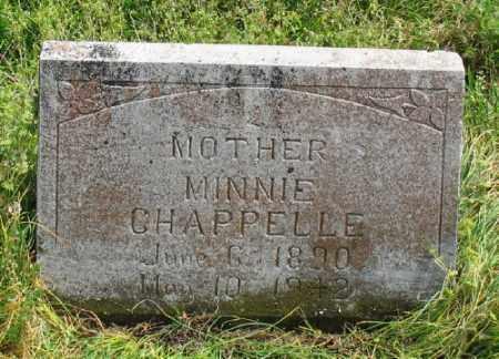CHAPPELLE, MINNIE - Marion County, Arkansas | MINNIE CHAPPELLE - Arkansas Gravestone Photos