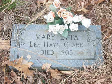 CLARK, MARY ETTA - Marion County, Arkansas   MARY ETTA CLARK - Arkansas Gravestone Photos