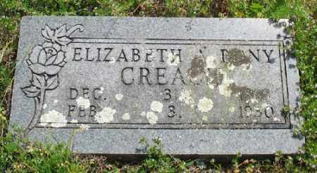 RONY CREACH, ELIZABETH A. - Marion County, Arkansas | ELIZABETH A. RONY CREACH - Arkansas Gravestone Photos