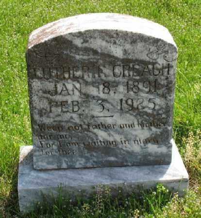 CREACH (VETERAN WWI), LUTHER FRANKLIN - Marion County, Arkansas | LUTHER FRANKLIN CREACH (VETERAN WWI) - Arkansas Gravestone Photos