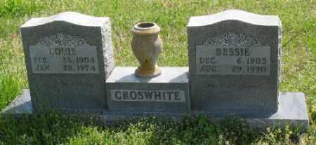 CROSWHITE, BESSIE - Marion County, Arkansas | BESSIE CROSWHITE - Arkansas Gravestone Photos