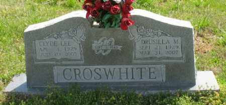 CROSWHITE, CLYDE LEE - Marion County, Arkansas | CLYDE LEE CROSWHITE - Arkansas Gravestone Photos